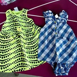 Bundle 2 infant girls sundress Carters